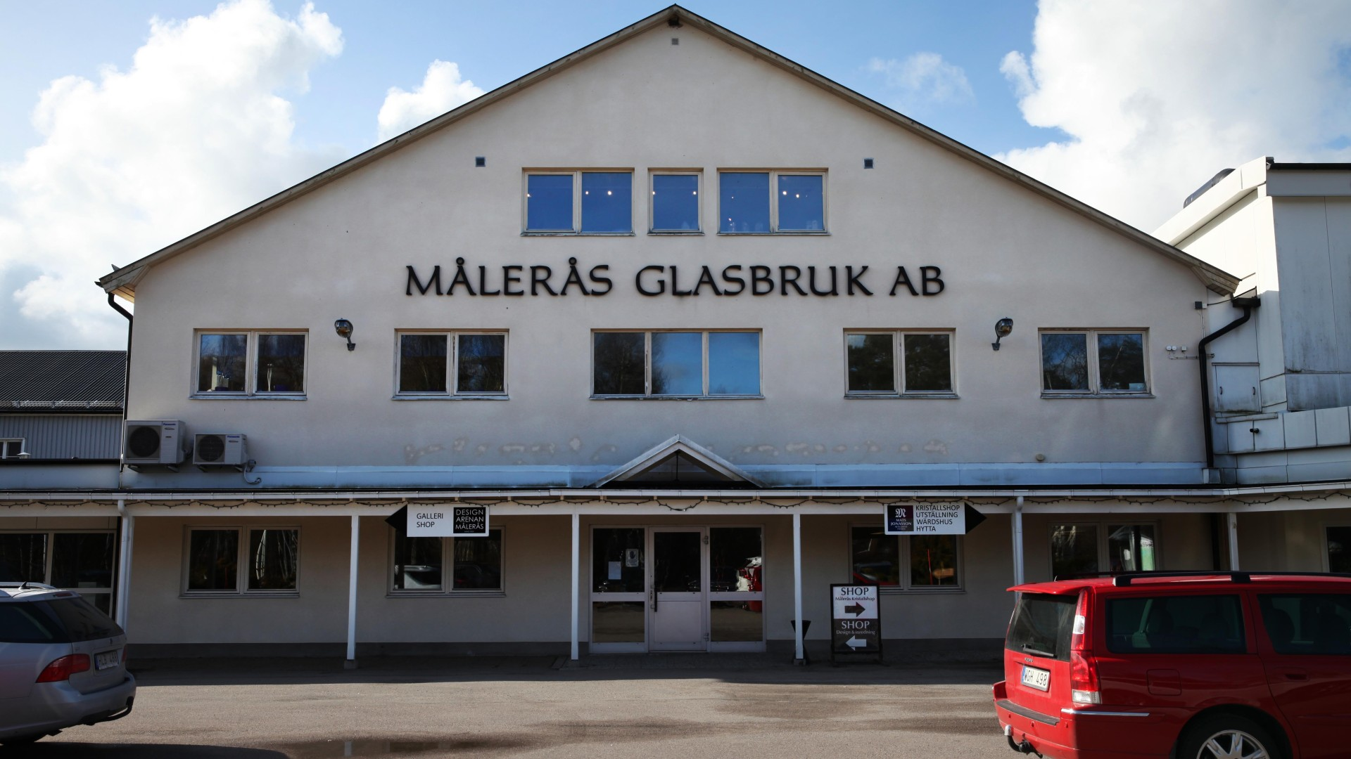 Målerås Village glassblowing history. Glasbläser