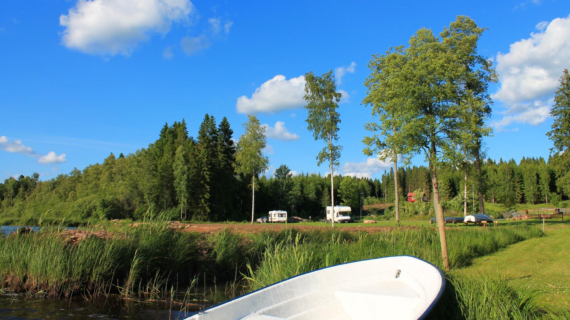 Målsånna Farm resort Campingplatz mit Seelage