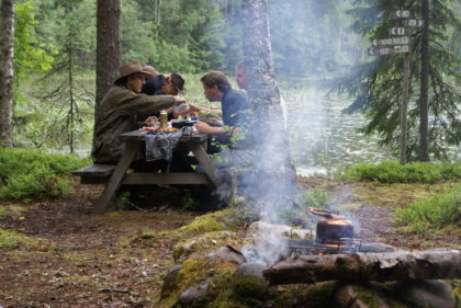 hiking hike trail picnic sweden bbq grill outdoor cooking