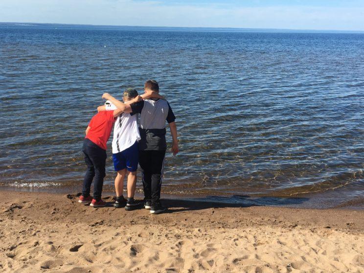 sweden lakeside beach sand swim