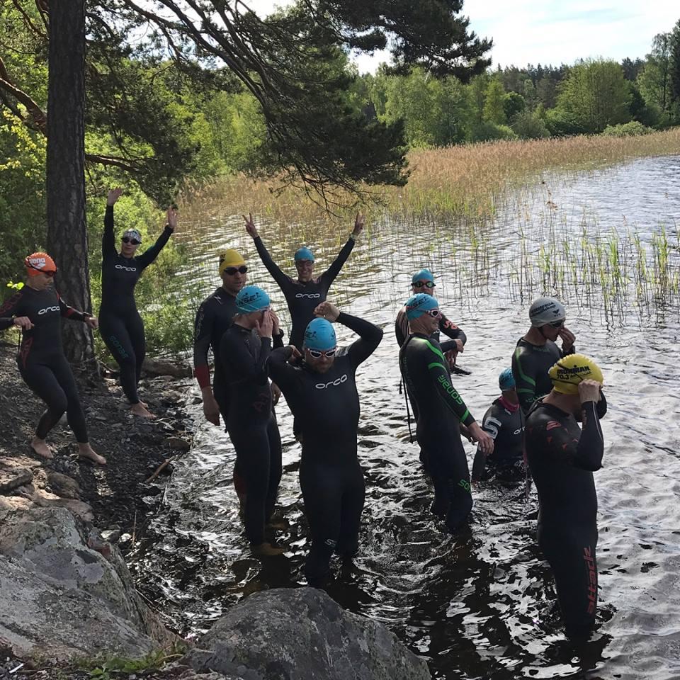 Swim in a Swedish lake