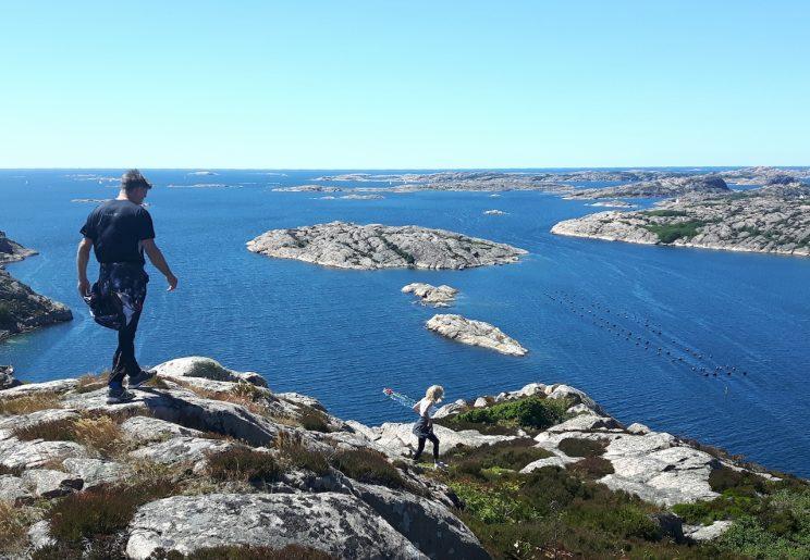 hiking mountain islands rock climbing sweden