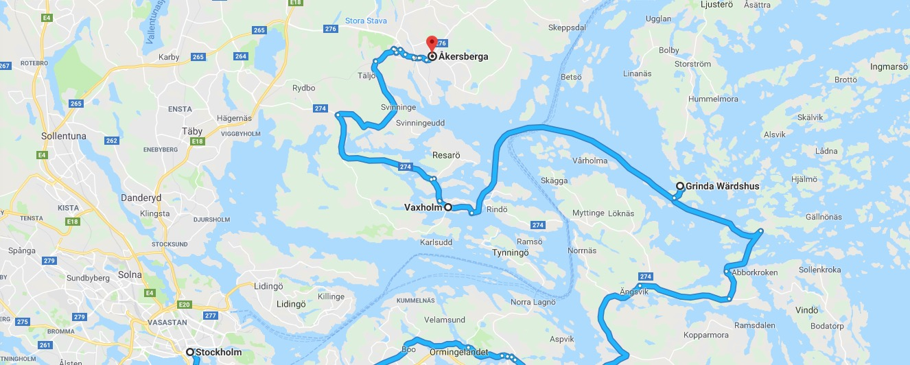 Excursion to Vaxholm and Grinda