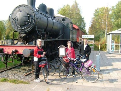 Biking trail banvallen railway cycle sweden