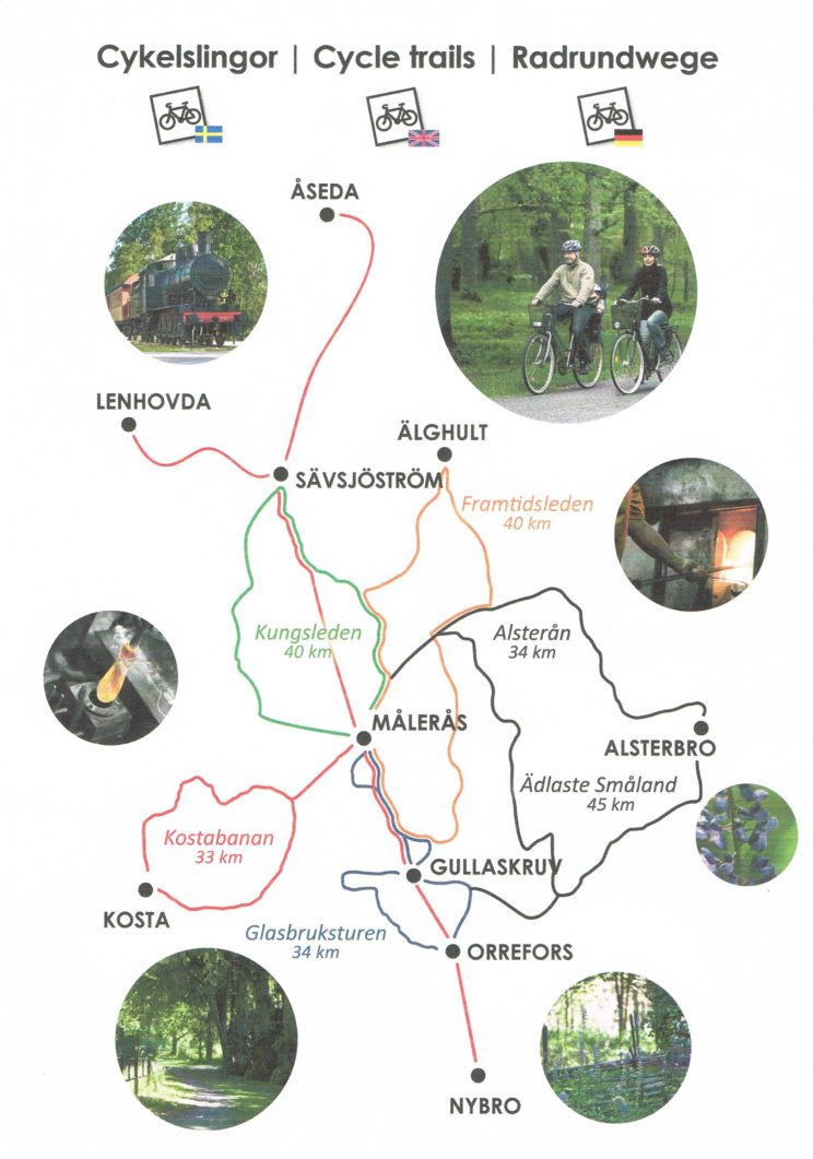 bike trail route map sweden