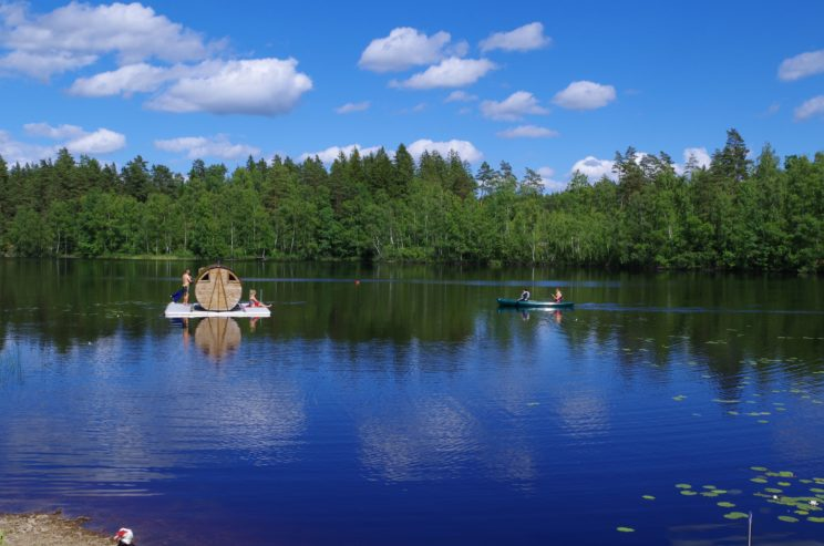sauna lake camping smaland sustainable tourism