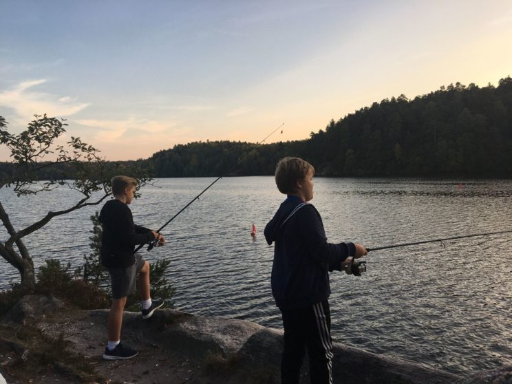 camping fishing smaland green holiday