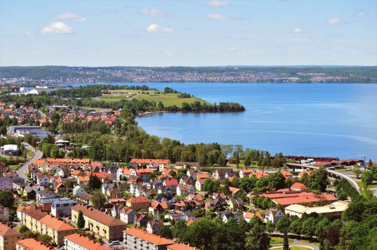 huskvarna jonkoping sweden houses city cities