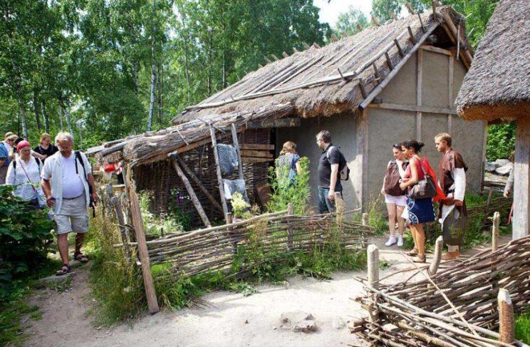 Birka Viking Village old capital sweden lake