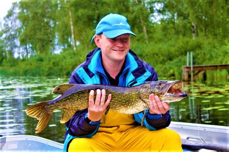 Fishing sweden lake sport casual family