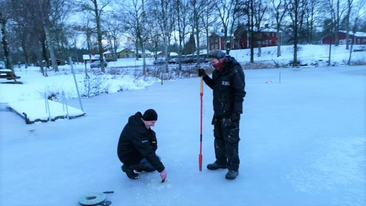 ice fishing lake