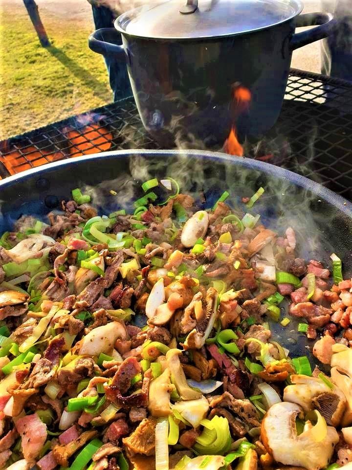 outdoor meal food wild ingredients
