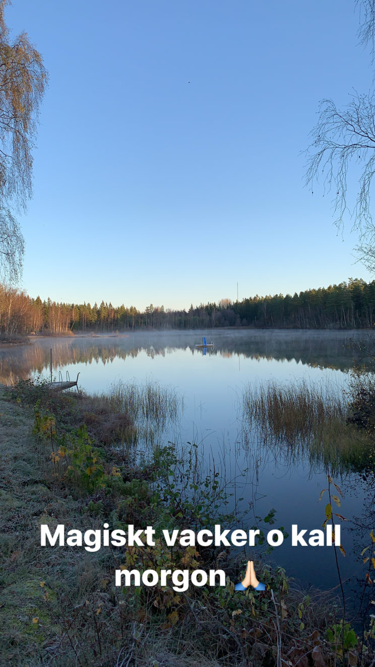 swedish lake hike morning sunrise