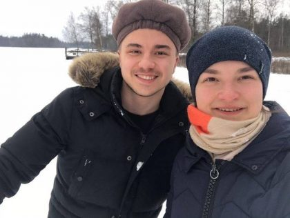 Winter outdoor activities during sports break in Sweden