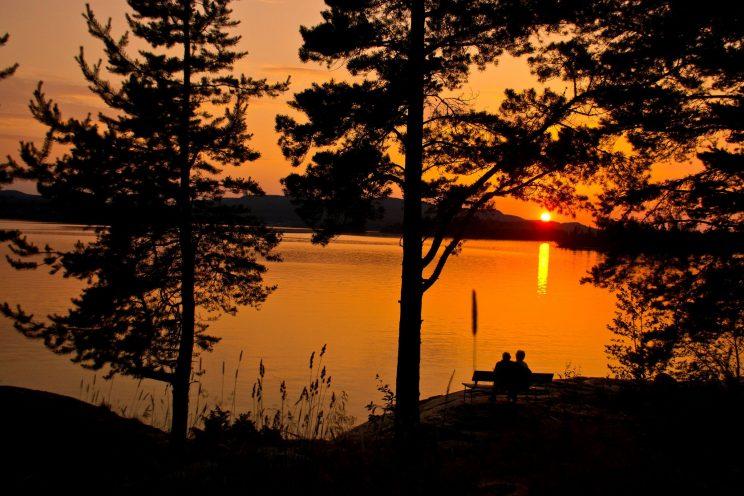 lapland Scandinavia north sunset