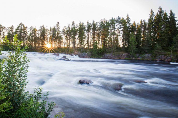 mystical river flow mist heart of lapand